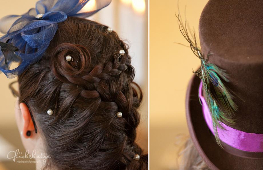 braut frisur haare styling bridal grinsekatz