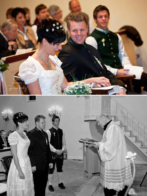 Hochzeitsfotos Trauung Kirche reportage grinsekatz