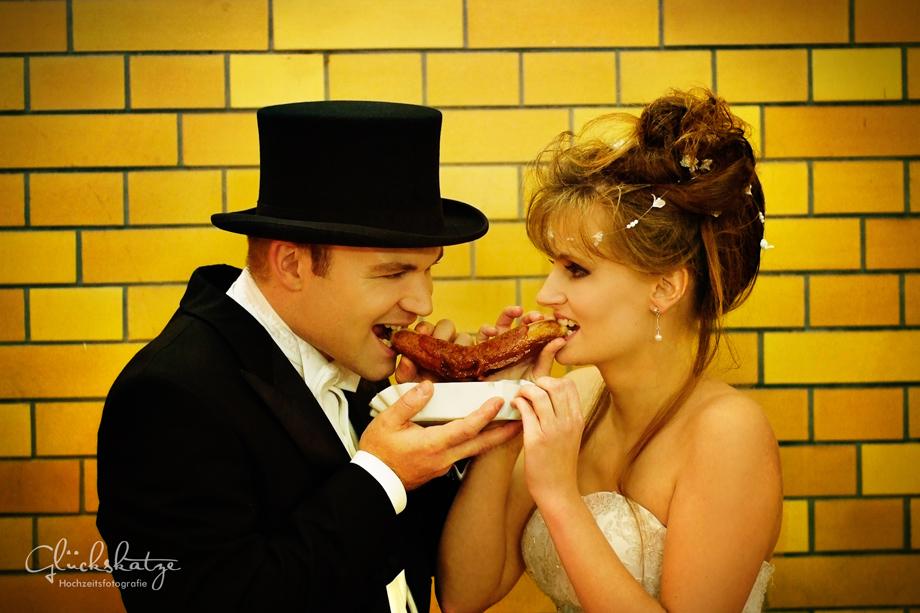 Hochzeit Currywurst Berlin glückskatze