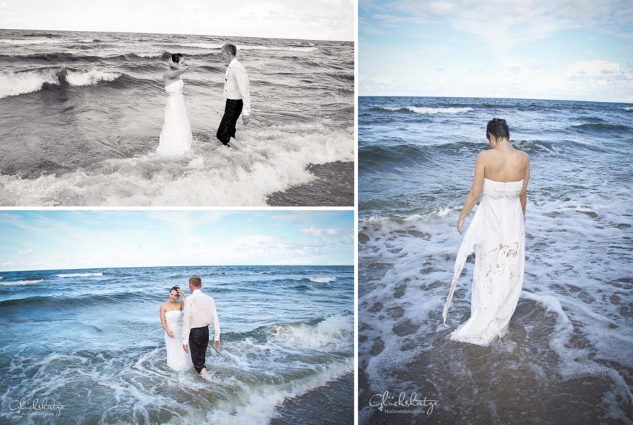 trash the dress baltic sea wedding