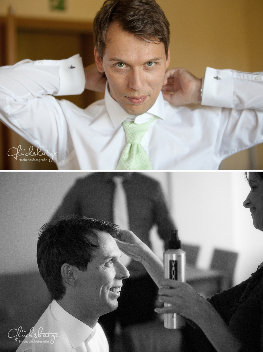 Groom getting ready bräutigam wedding photography brandenburg