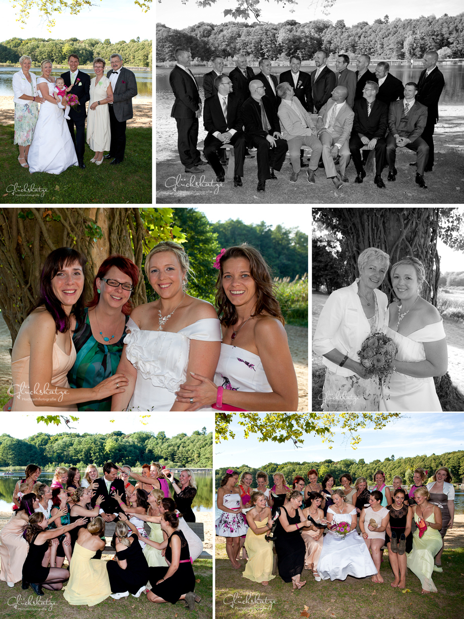 wedding party guests photography groups