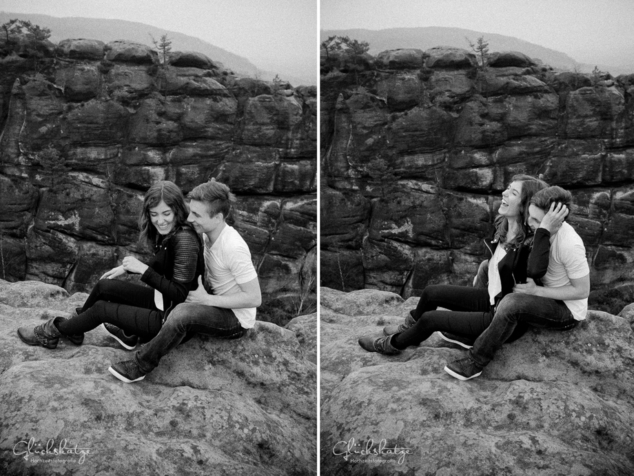 fun couple adventure photoshoot rocks