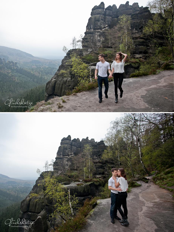 paarfotografie berge felsen wald