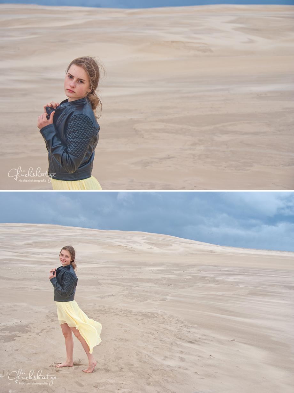 girl outdoor glamour dunes leba